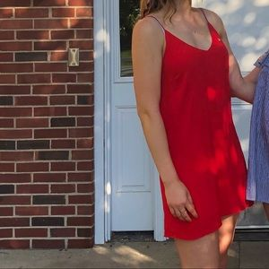 Aritzia red shift dress